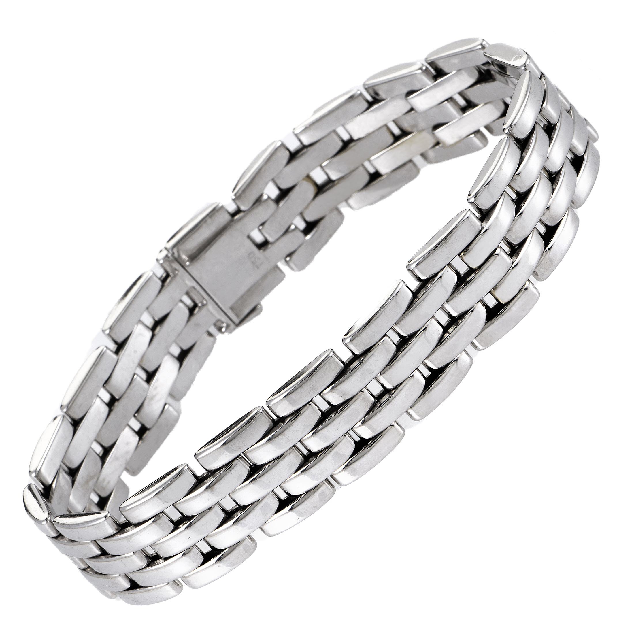 Cartier Maillon Panthere Women's 18K White Gold Bracelet