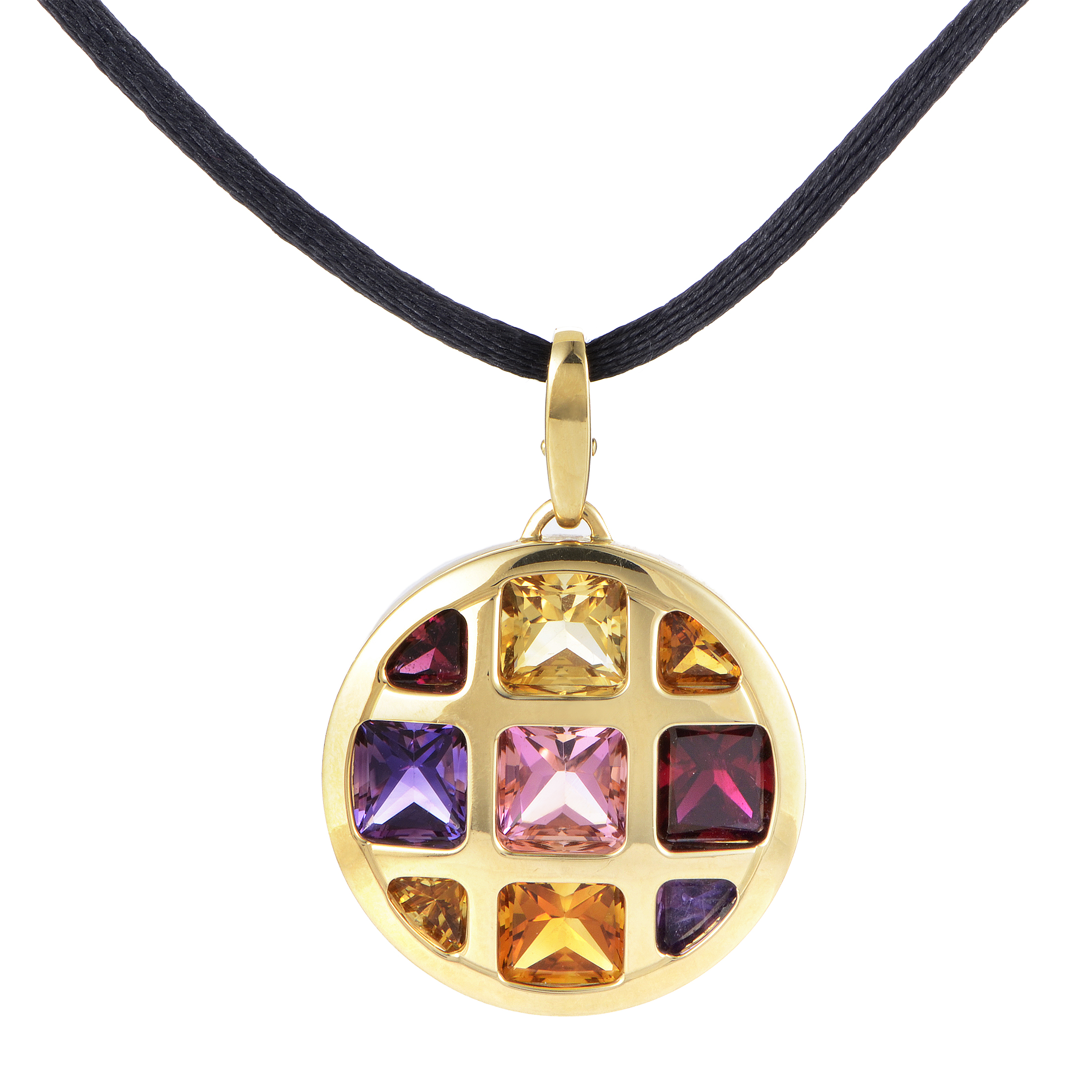 Cartier Pasha Women's 18K Yellow Gold Multi-Gemstone Pendant & Cord Necklace