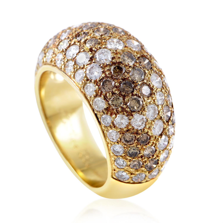 Cartier Le Bombe 18K Yellow Gold Multi-Diamond Ring