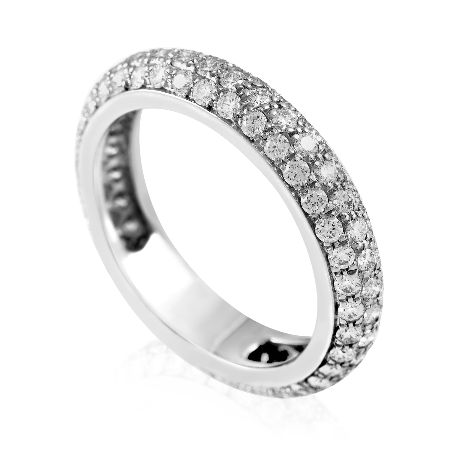 Cartier 18K White Gold Diamond Pave Eternity Band