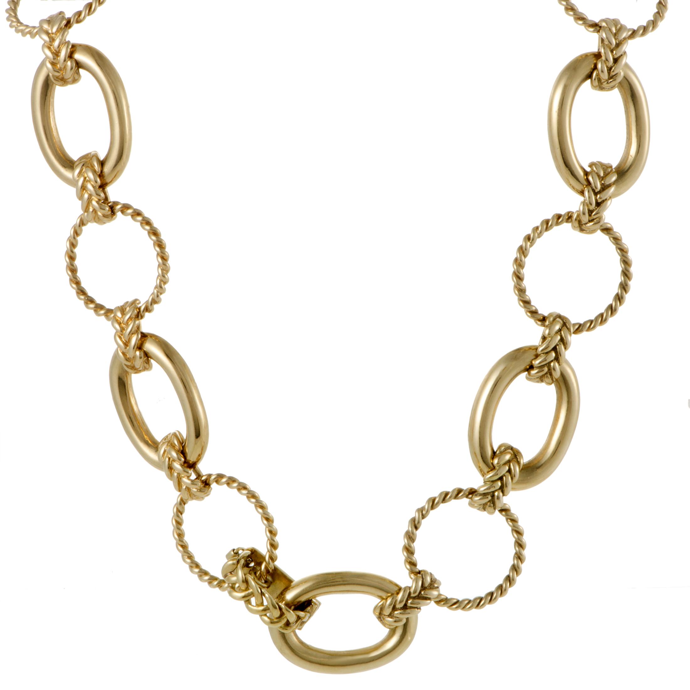 Carter Vintage Womens 18K Yellow Gold Large Link Neklace