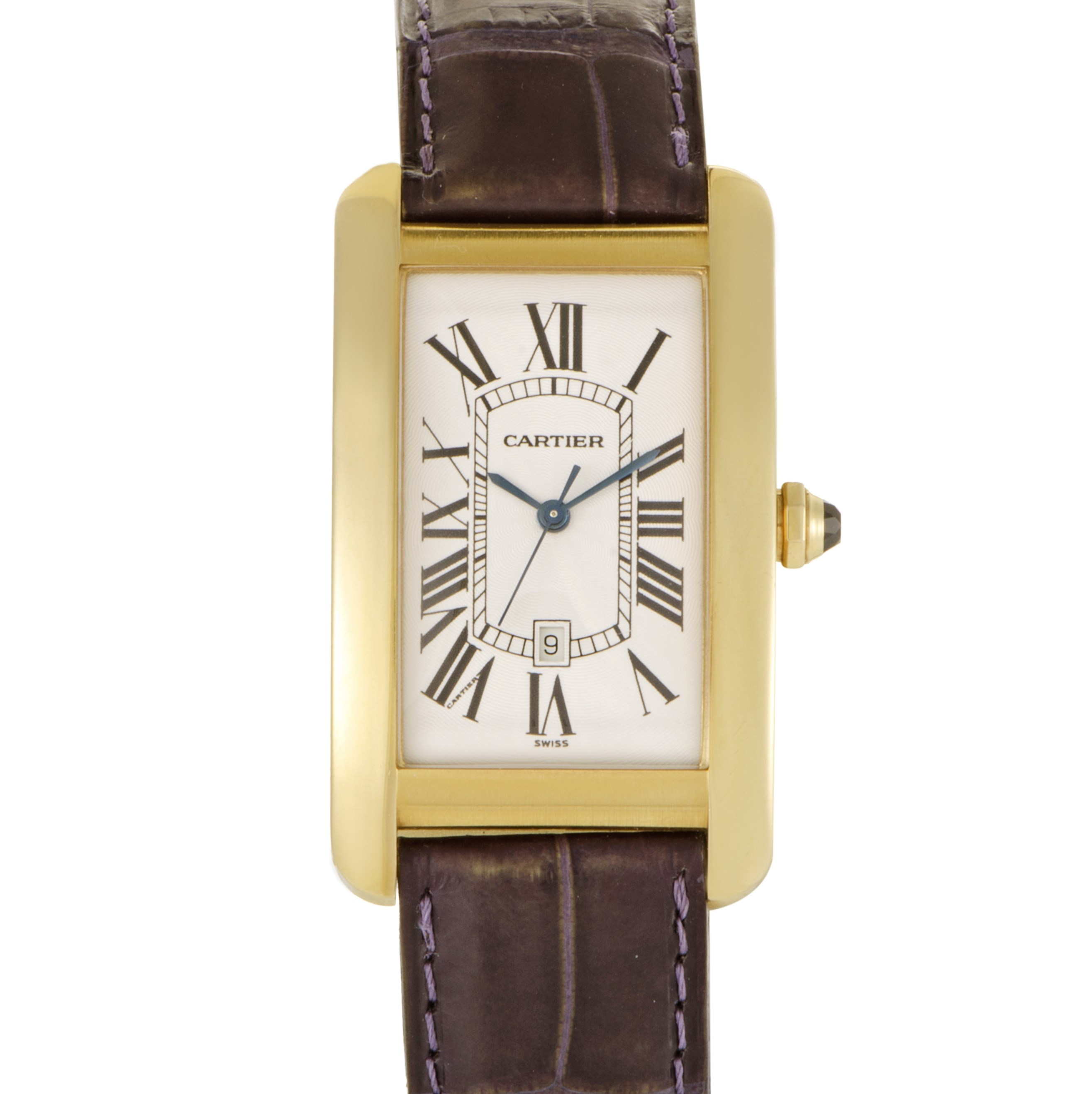 cartier tank americaine mens automatic watch w2603156 ebay. Black Bedroom Furniture Sets. Home Design Ideas