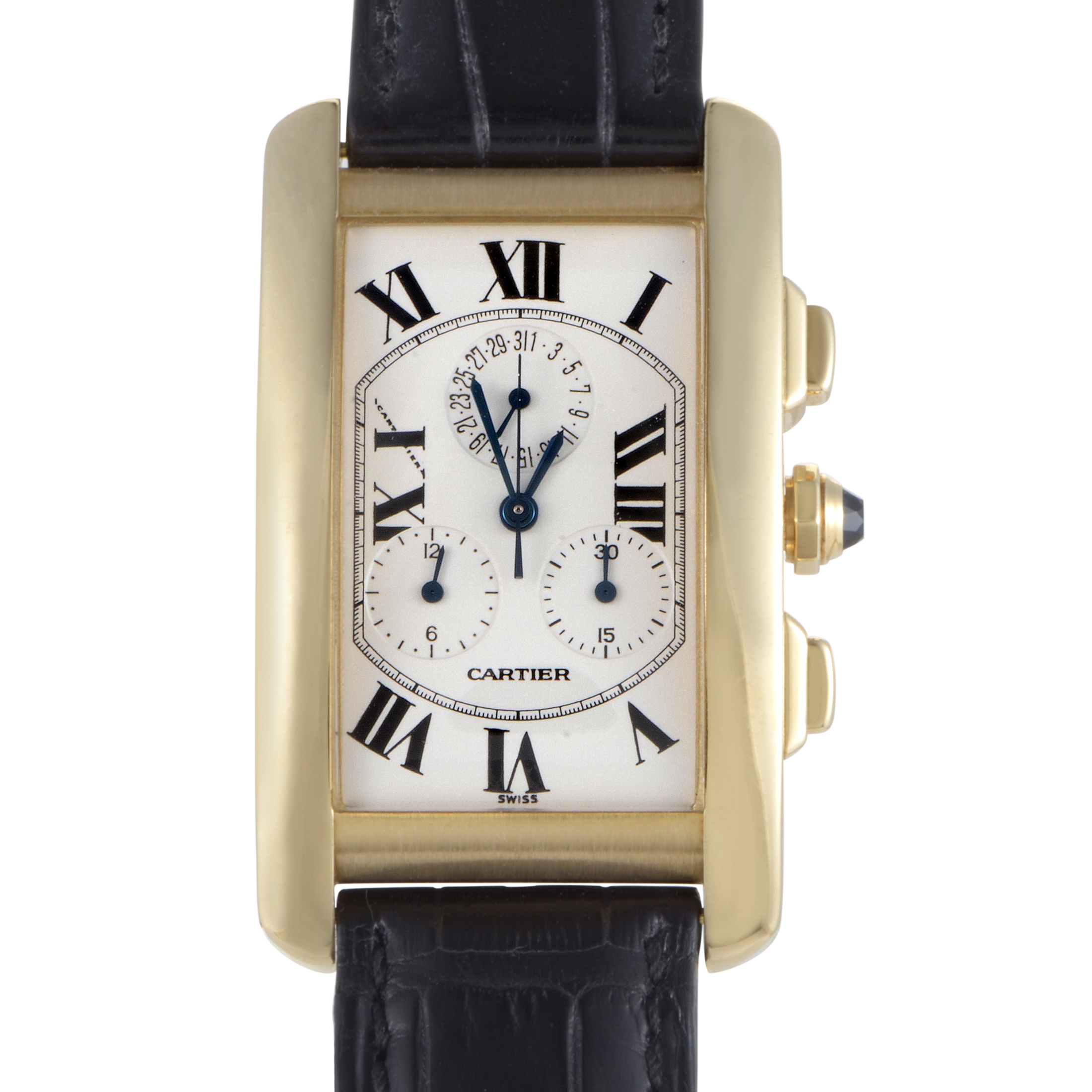 Cartier Tank Americaine Men's Quartz Chronograph Watch W2605856
