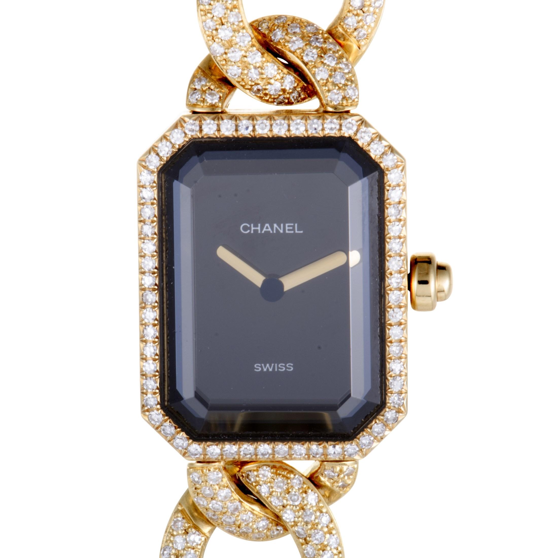 Premiere 20mm 18K Yellow Gold Diamond Watch
