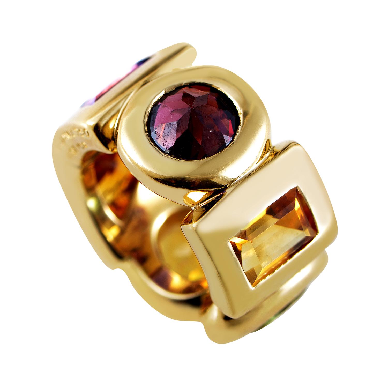Chanel 18K Yellow Gold Large Multi-Stone Ring CHA01-040116