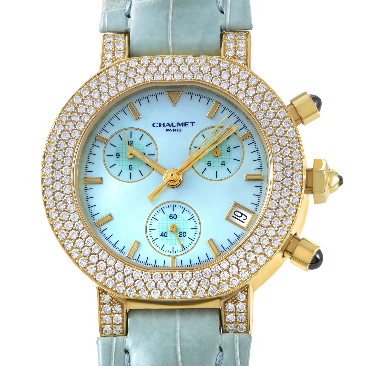 Chaumet Women's Yellow Gold Automatic Chronograph Watch 157449
