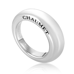 Women's 18K White Gold Signature Band Ring CHA09-072116
