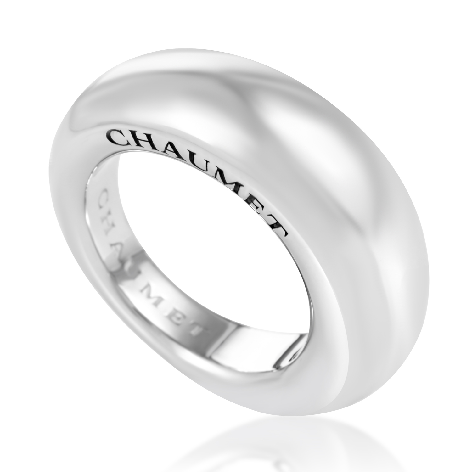 Women's 18K White Gold Signature Band Ring CHA10-072116