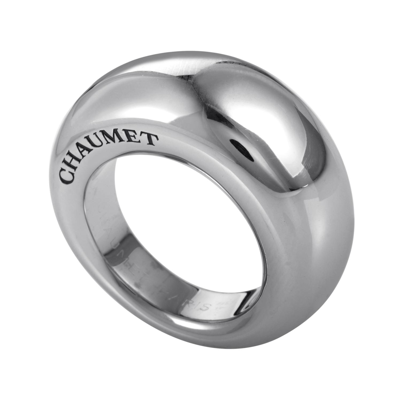 Women's 18K White Gold Signature Band Ring CHA11-072116