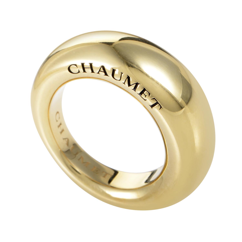 Women's 18K Yellow Gold Signature Band Ring CHA12-072116