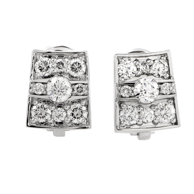 Jacqueline Women's 18K White Gold Diamond Earrings 1O09921BB500P