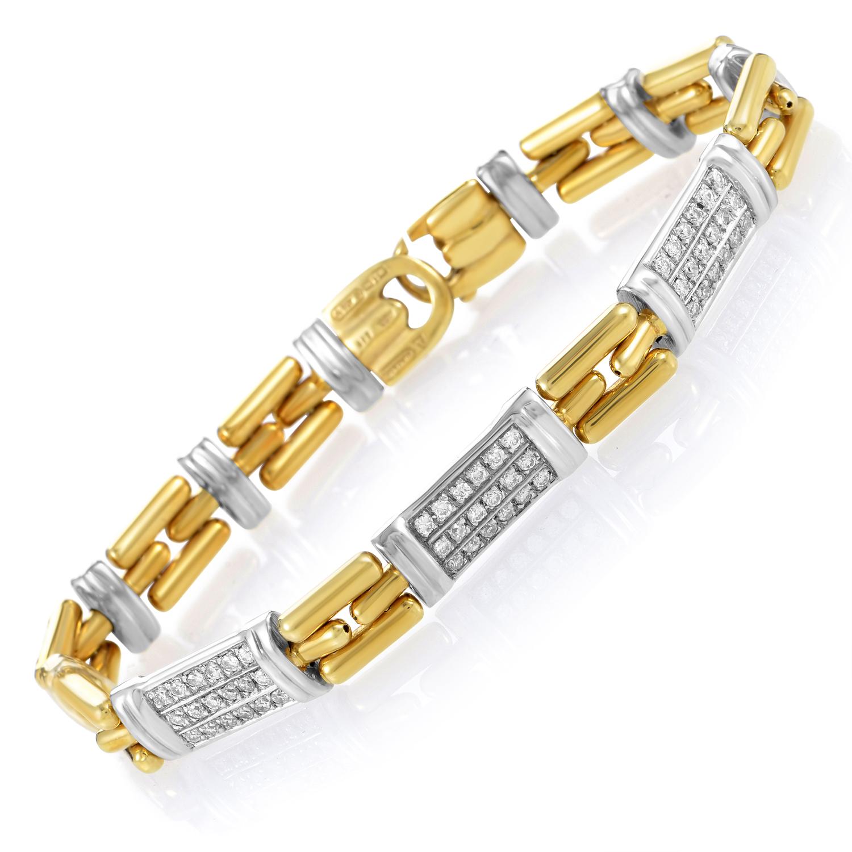 Chimento Women's 18K Multi-Tone Gold & Diamond Link Bracelet