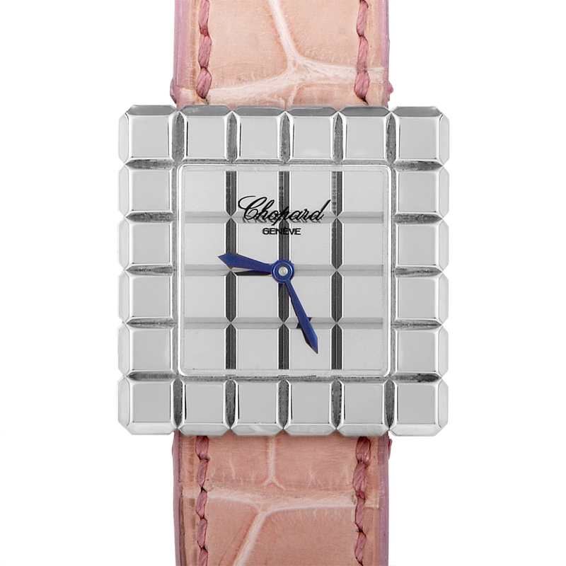 Ice Cube 6-Row 18K White Gold Watch 127407-1001