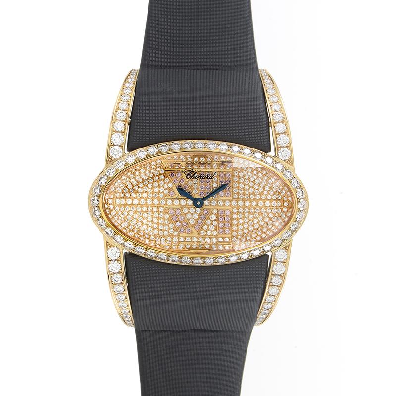 Classic Women's Rose Gold Diamond Pave Wristwatch 139018-5001