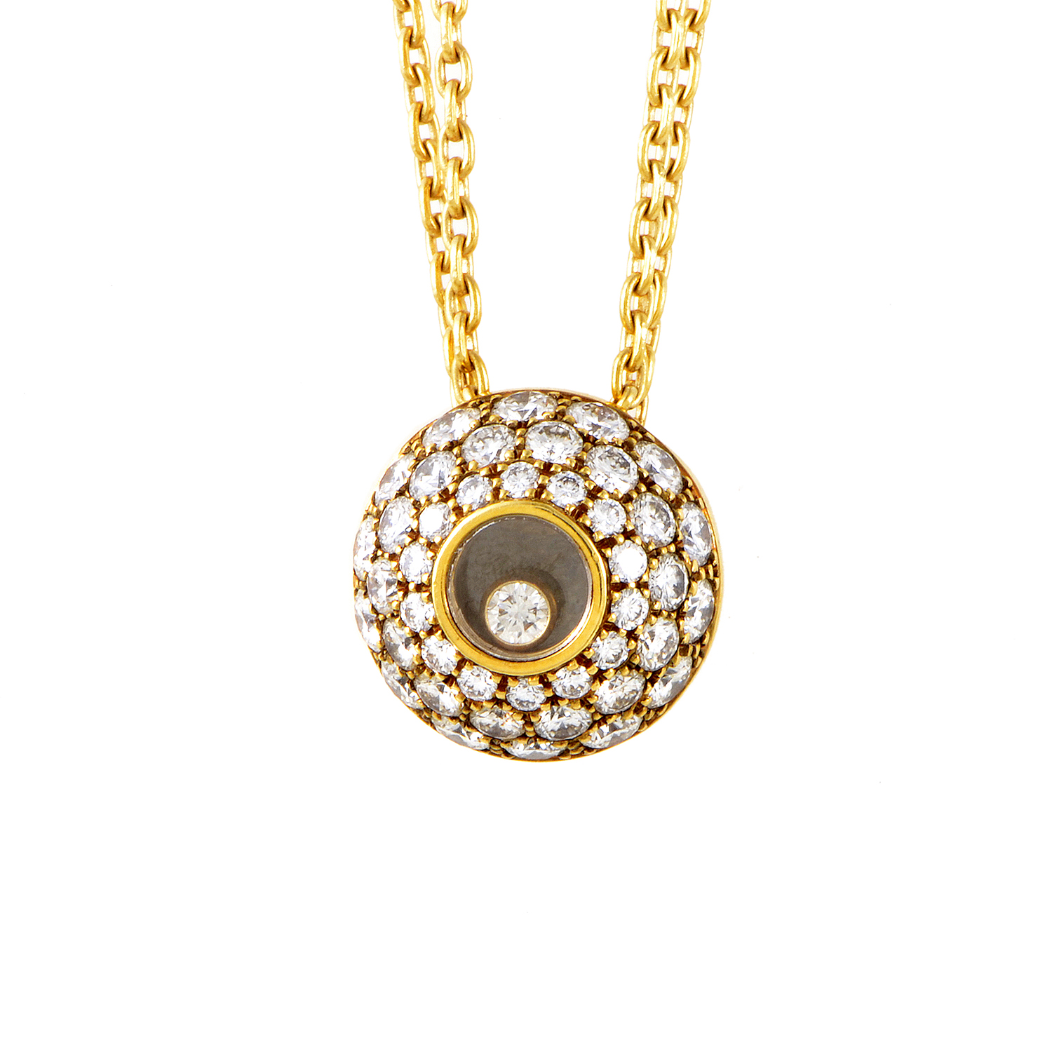 Happy Diamonds 18K Yellow Gold Pendant Necklace 79/3224-20
