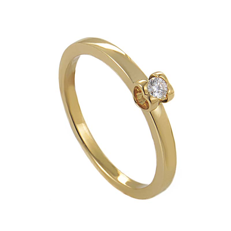 chopard 18k yellow gold engagement ring 827819