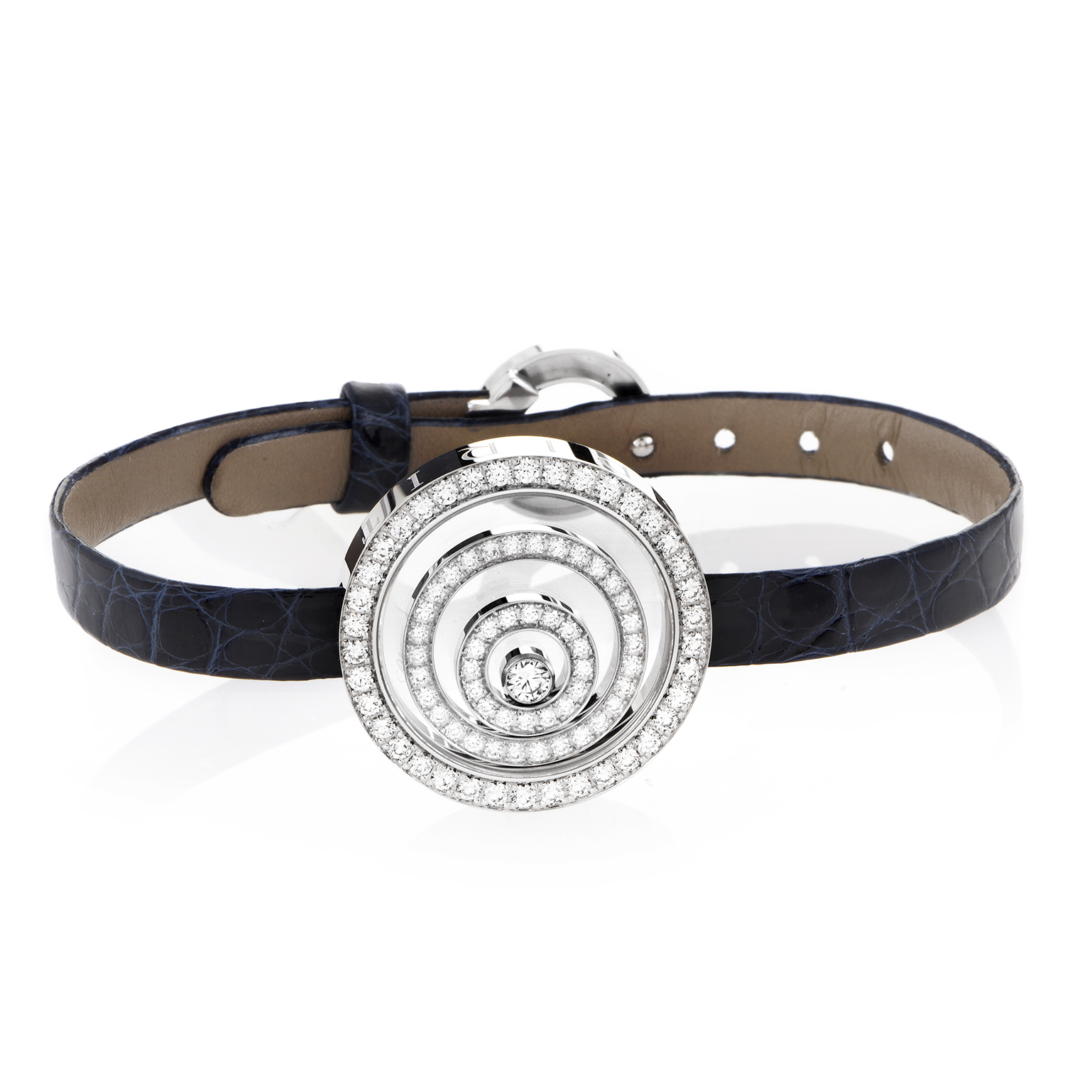 Happy Spirit 18K White Gold & Diamond Leather Arm Band
