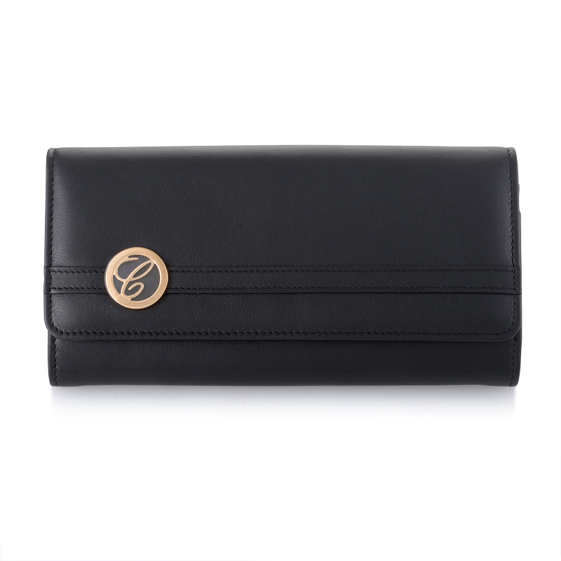 Logo Black Leather Wallet 95015-0146