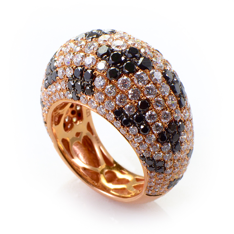 18K Rose Gold Diamond Dalmatian Ring CRR10000_3