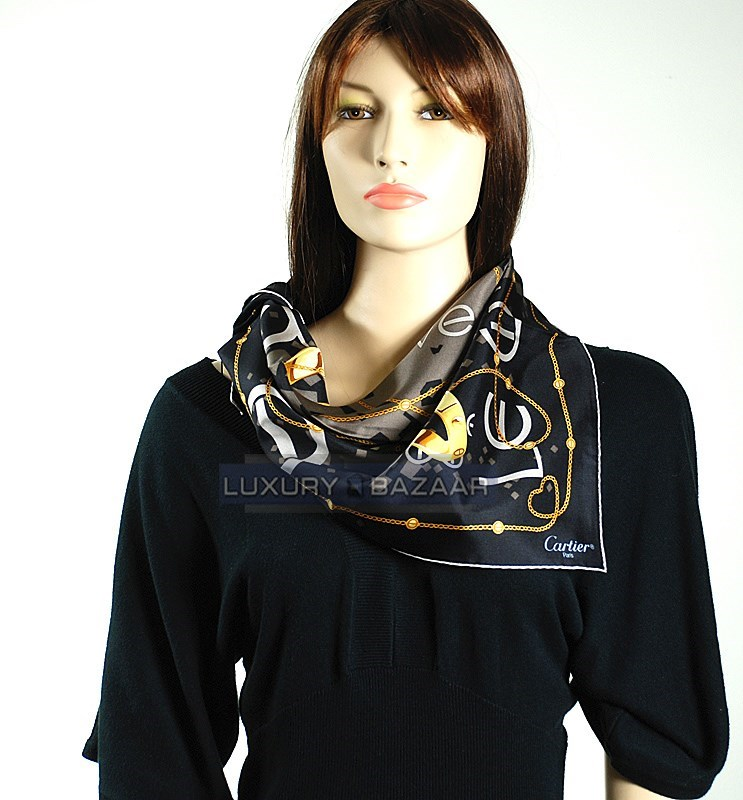 LOVE Collection Scarf  on Black