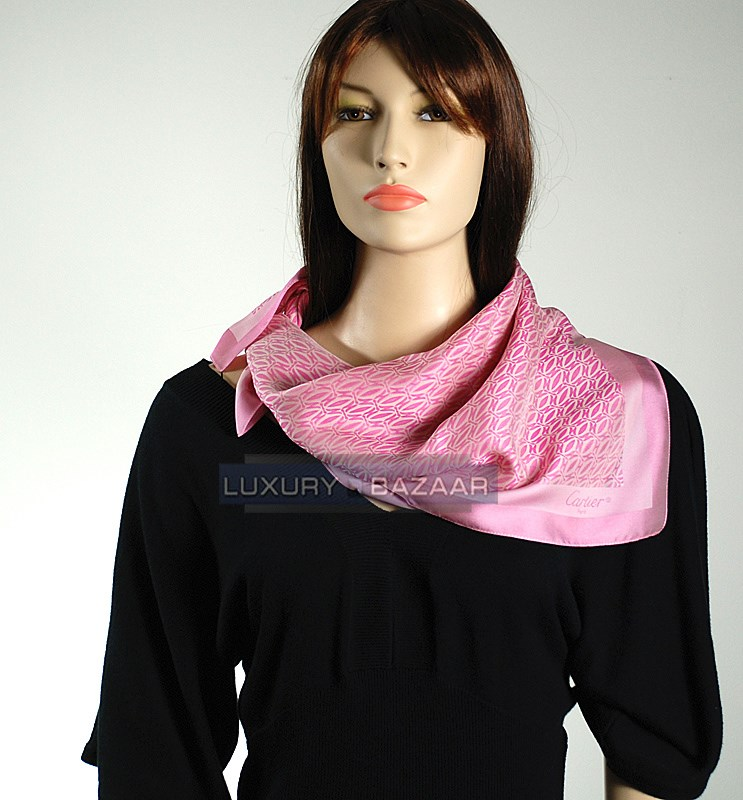Shades of Pink and Double C Logo Scarf