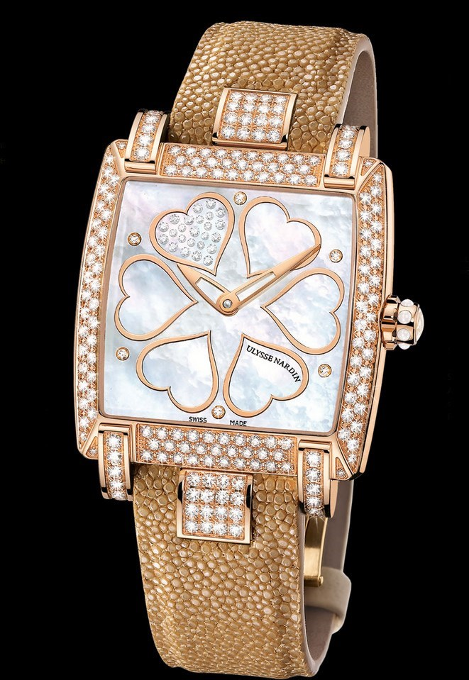 Caprice Hearts (RG-Diamonds / MOP-Diamonds / Leather Strap)