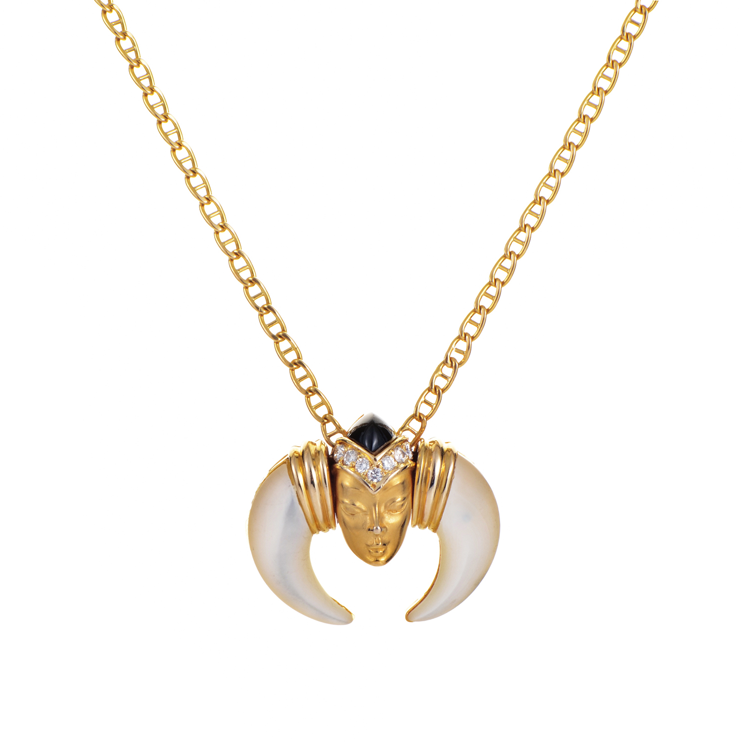 Carrera y Carrera 18K Yellow Gold Gemstone Pendant Necklace