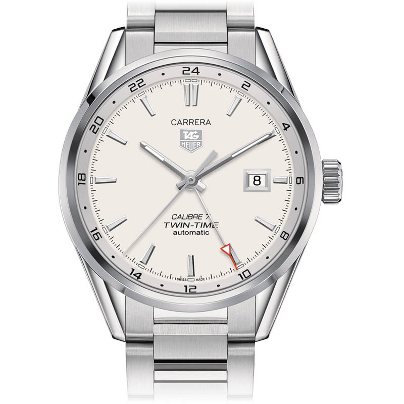 Carrera Calibre 7 Twin-Time Automatic Watch 41 mm WAR2011.BA0723