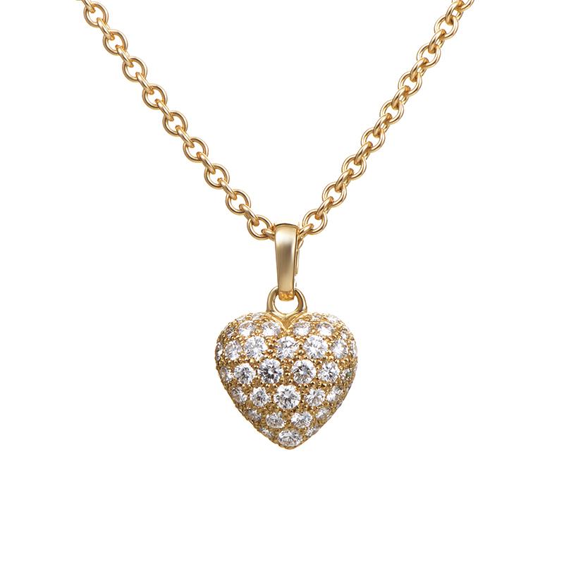 yellow diamond heart necklace - photo #17