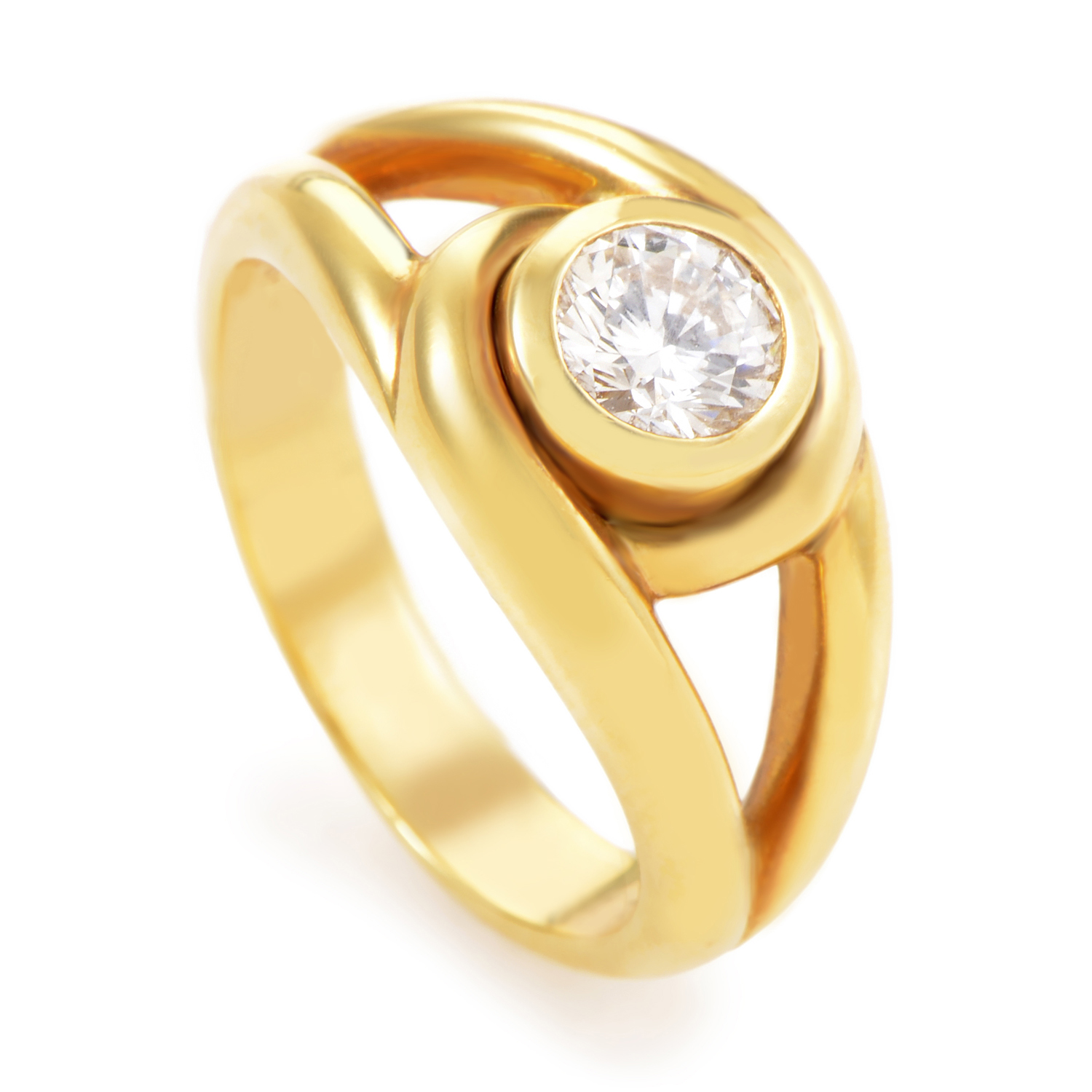 Cartier 18K Yellow Gold Diamond Solitaire Engagement Ring