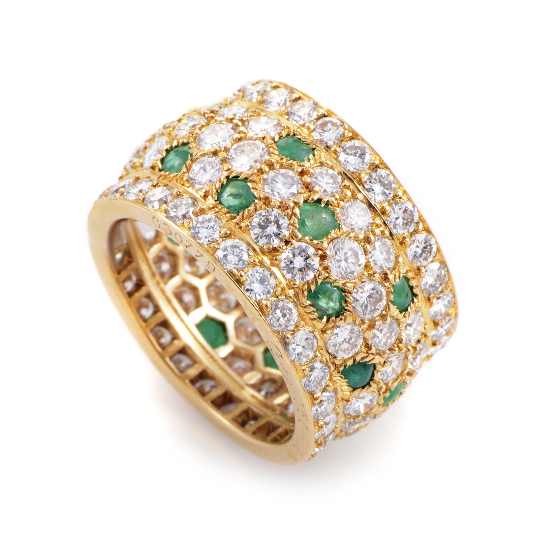 Cartier Nigeria Women's 18K Yellow Gold Diamond & Emerald Ring