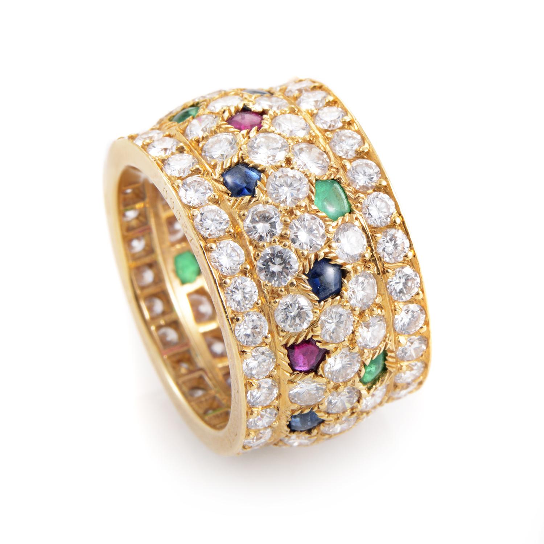 Cartier Nigeria Women's 18K Yellow Gold Multi-Stone Diamond Ring