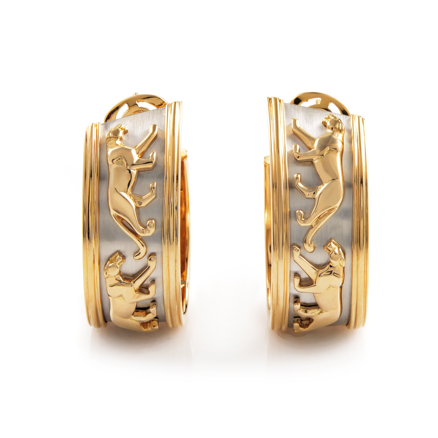 Cartier Panthere 18K Yellow Gold Hoop Earrings
