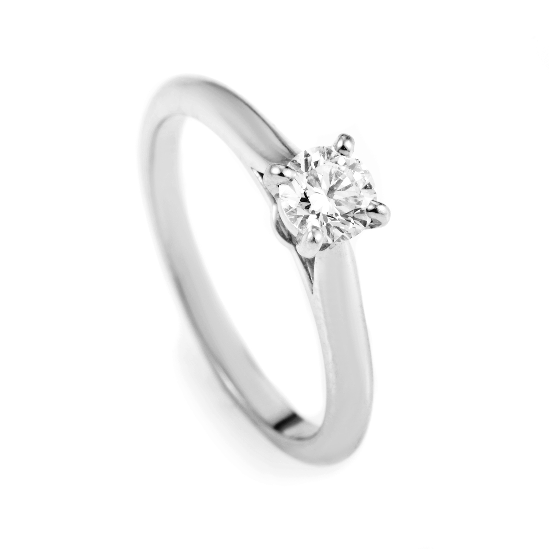 Cartier Women's Platinum .32ct Diamond Solitaire Engagement Ring