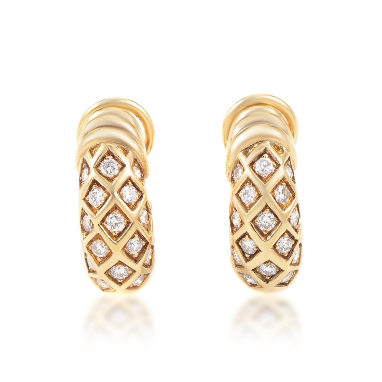 Cartier 18K Yellow Gold Diamond Clip-On Earrings