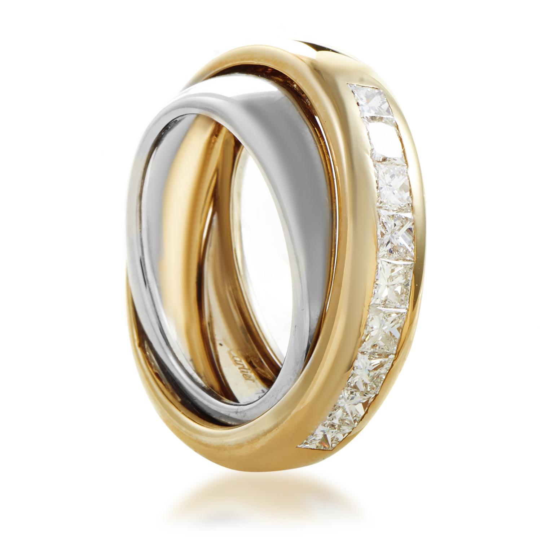 Cartier Women's 18K Multi-Tone Gold Invisible Set Diamond Band Ring