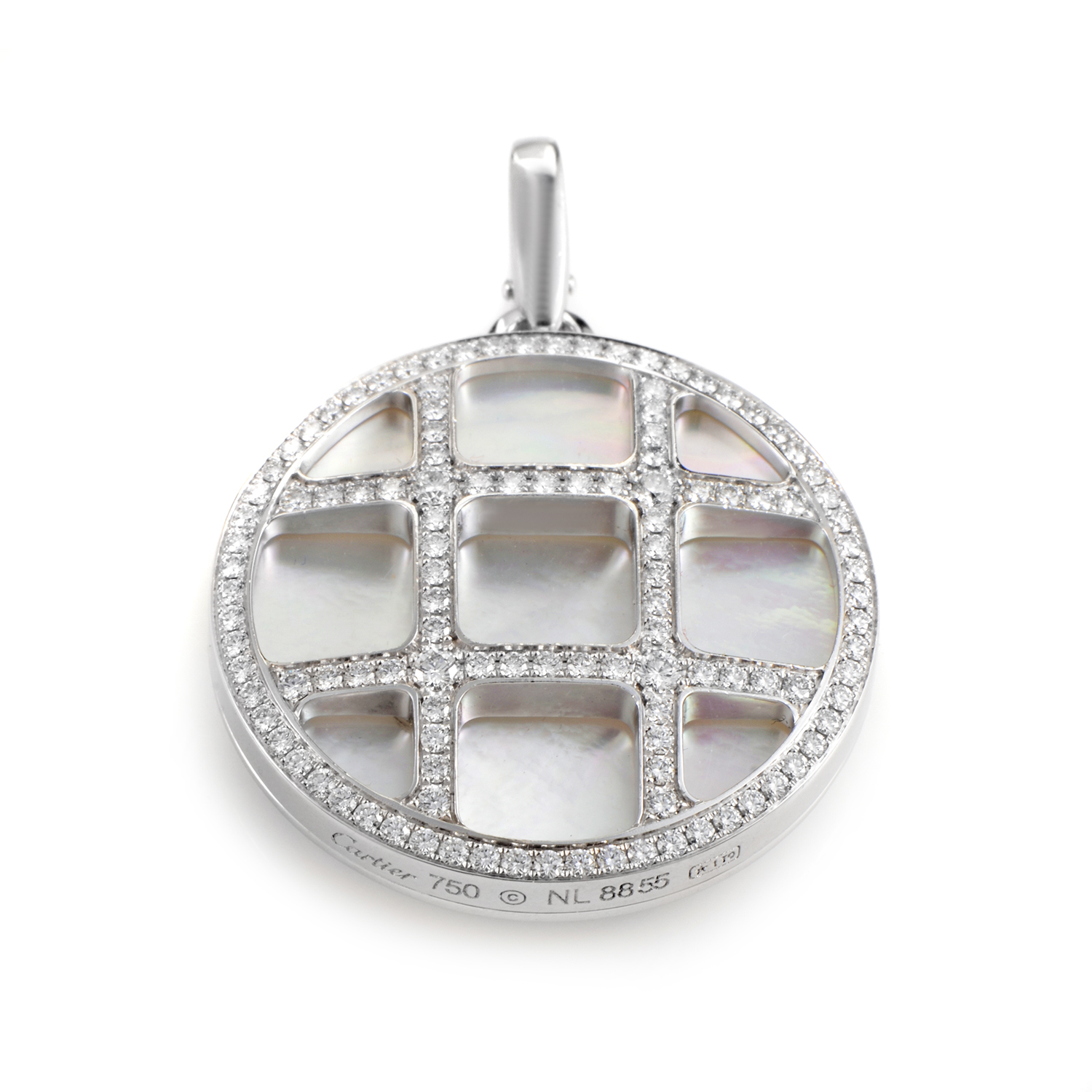 Pasha Women's 18K White Gold Mother of Pearl & Diamond Pendant