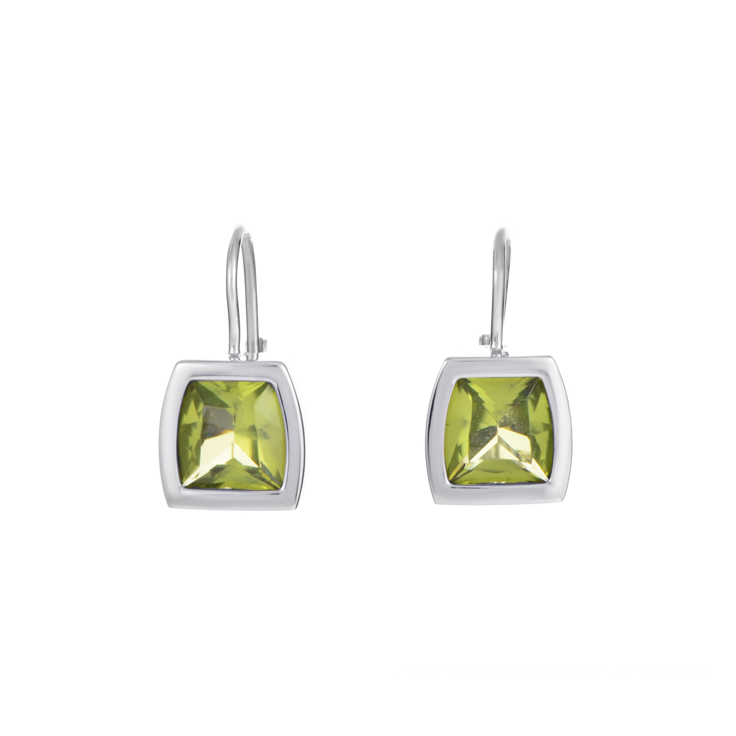 La Dona 18K White Gold Peridot Earrings