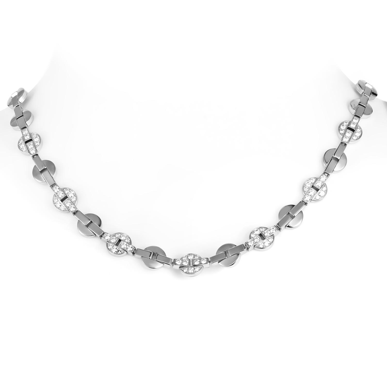 Cartier Himalia Women's 18K White Gold & Diamond Choker Necklace