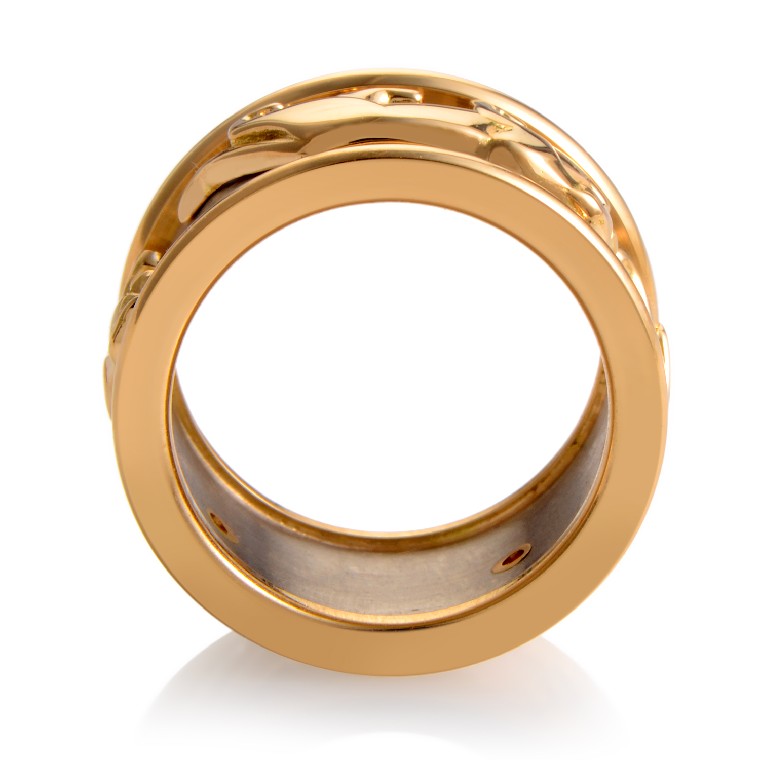 cartier panthere women 39 s 18k multi tone gold band ring. Black Bedroom Furniture Sets. Home Design Ideas
