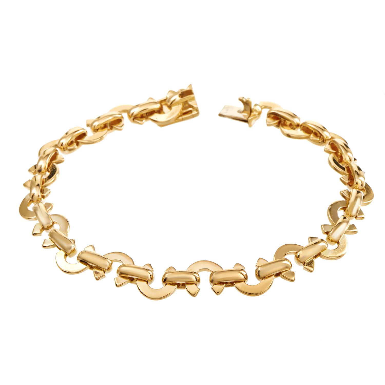 Chanel Women's 18K Yellow Gold C-Link Bracelet