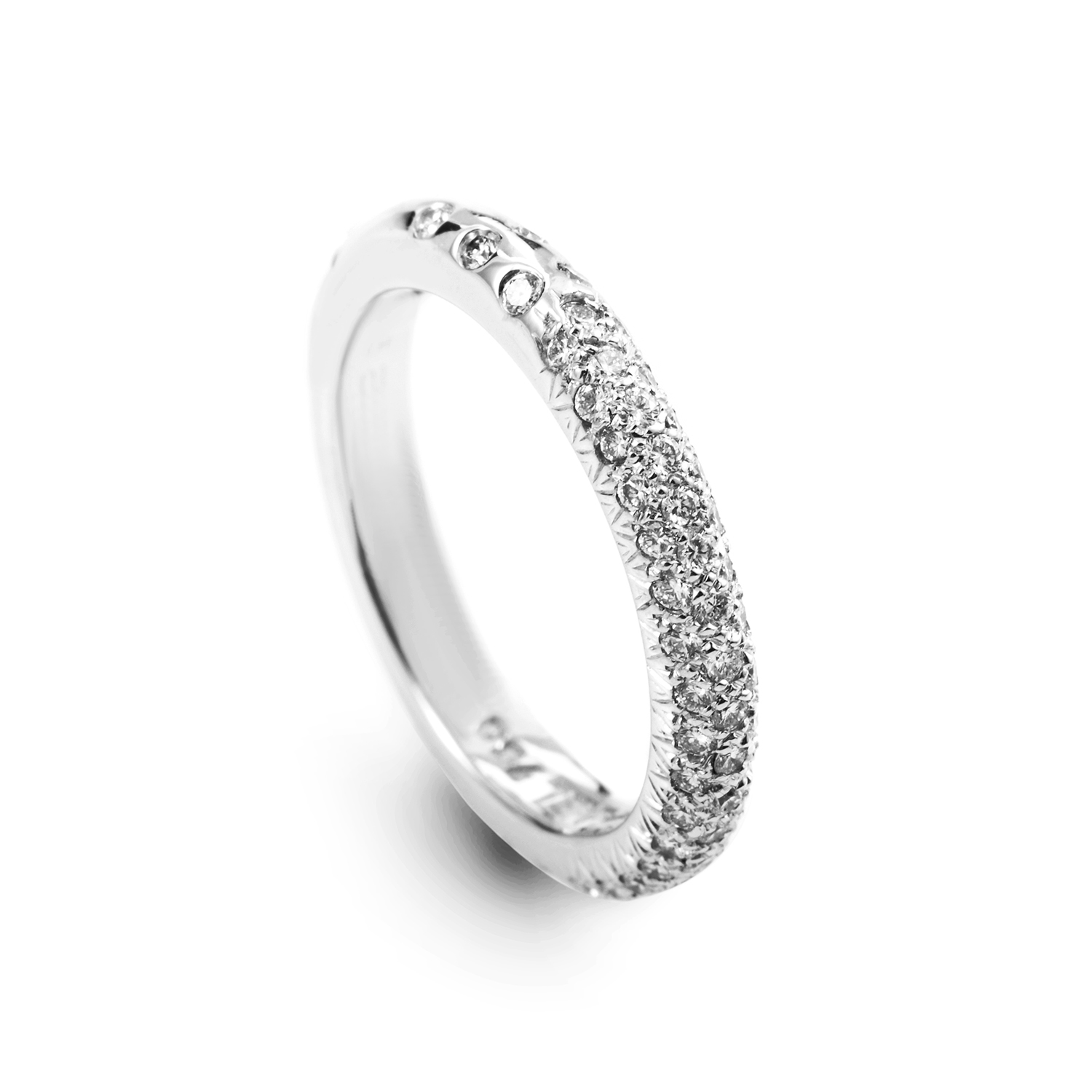Chanel 18K White Gold Diamond Pave Band