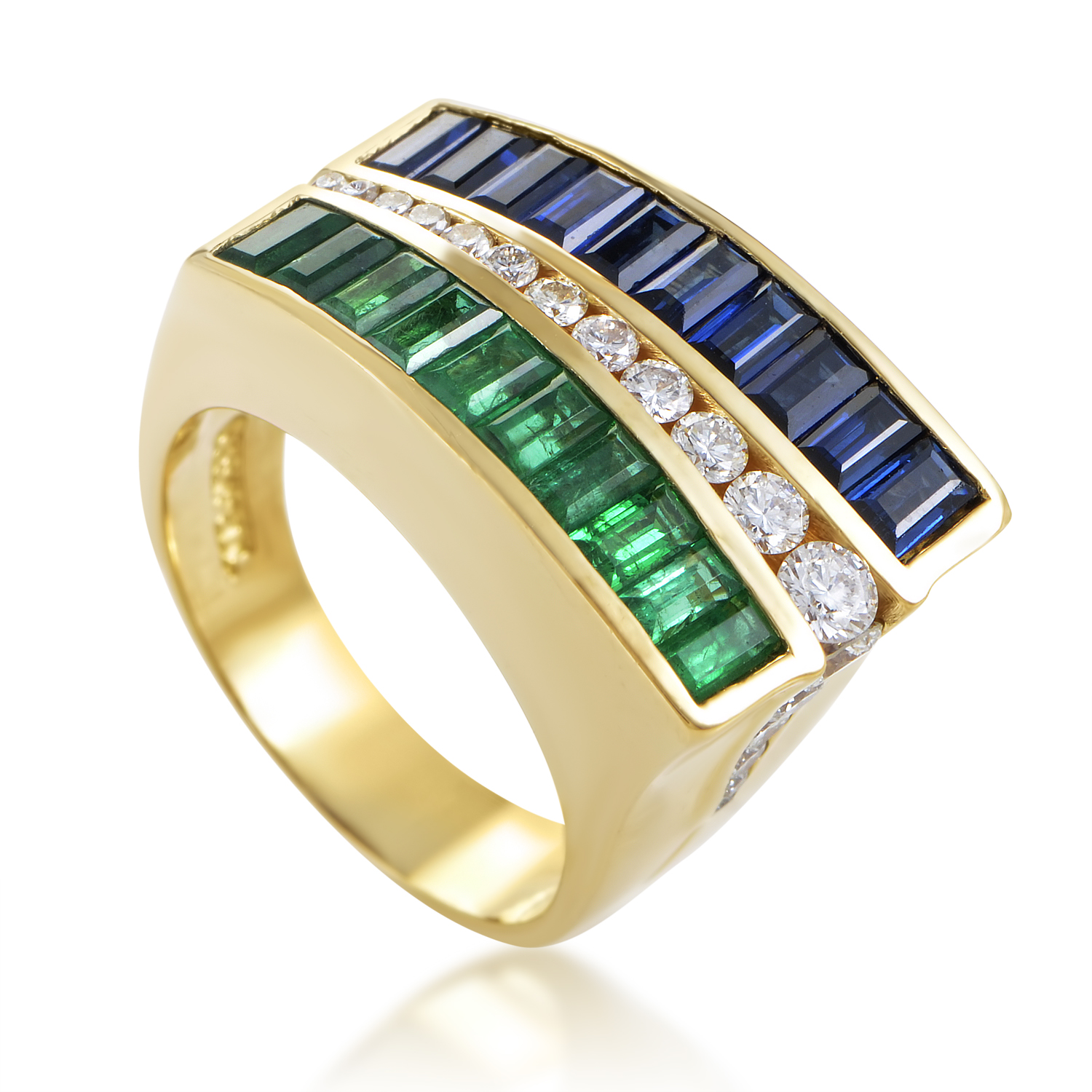 Charles Krypell Women's 18K Yellow Gold Precious Gemstone Cocktail Ring