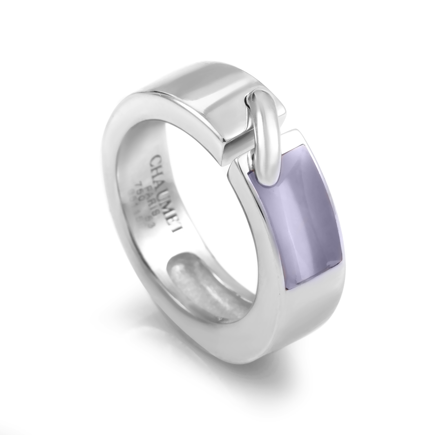 Liens Thick 18K White Gold Band Ring
