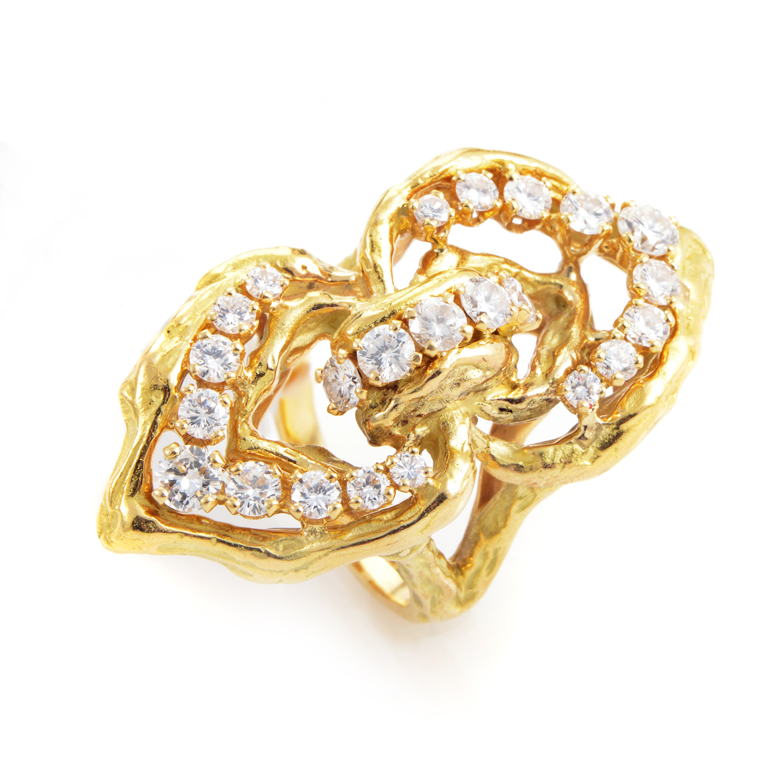 Chaumet 18K Yellow Gold Diamond Ring