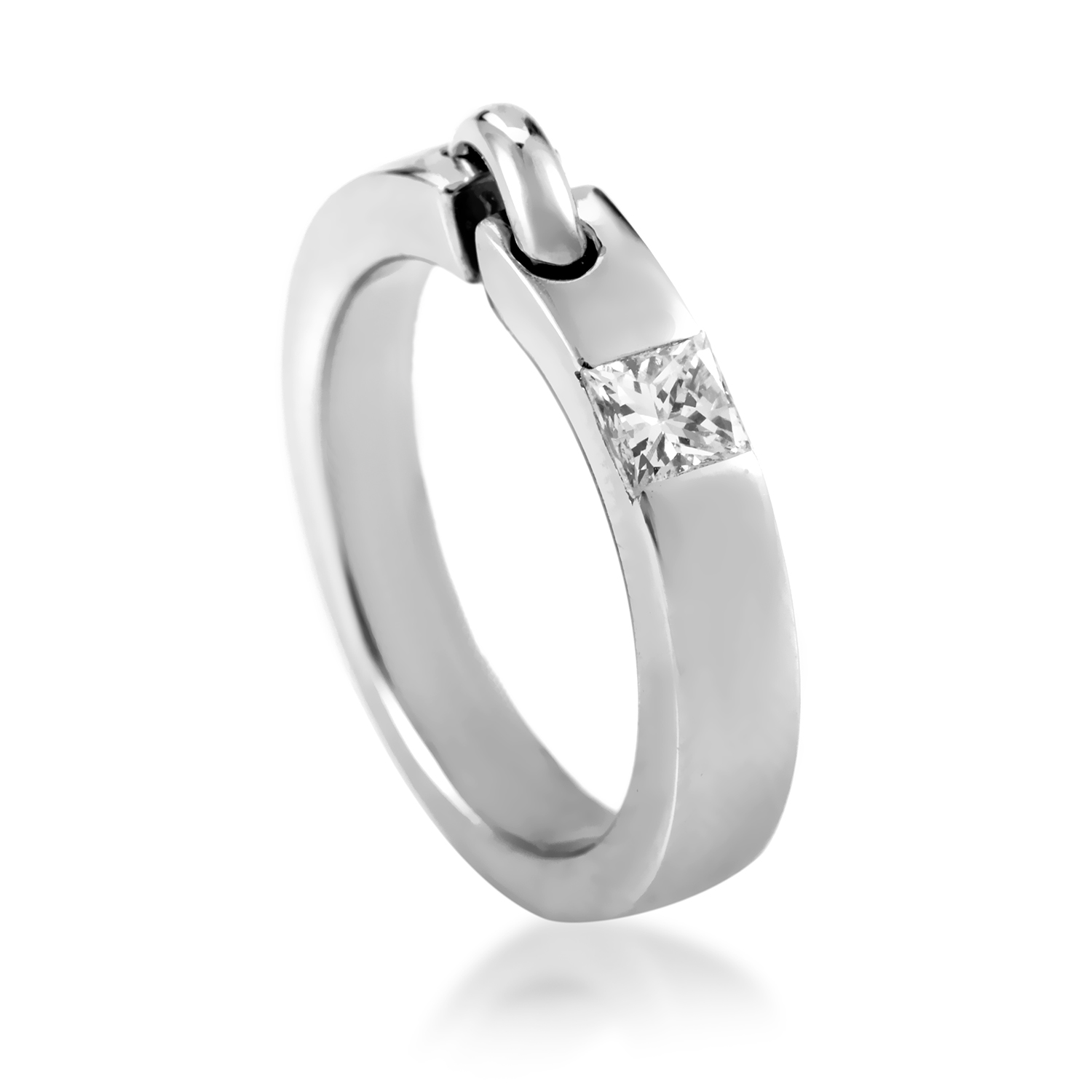 Chaumet Liens Women's 18K White Gold Diamond Band Ring AK1B3937