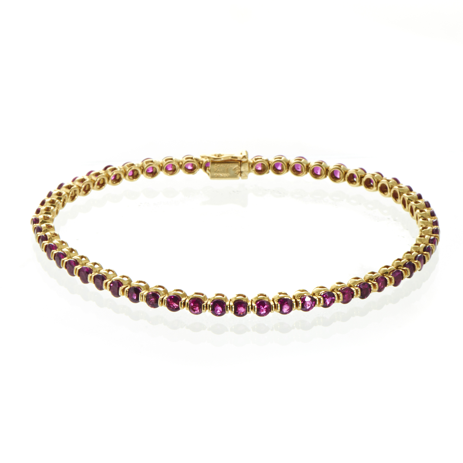 Chaumet Women's 18K Yellow Gold Ruby Tennis Bracelet