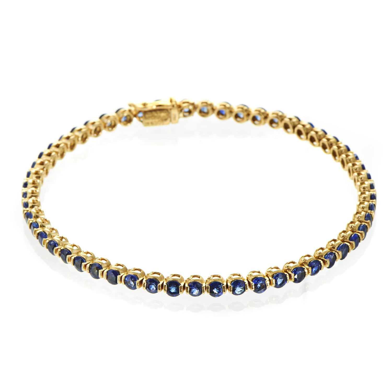 Chaumet Women's 18K Yellow Gold Sapphire Tennis Bracelet