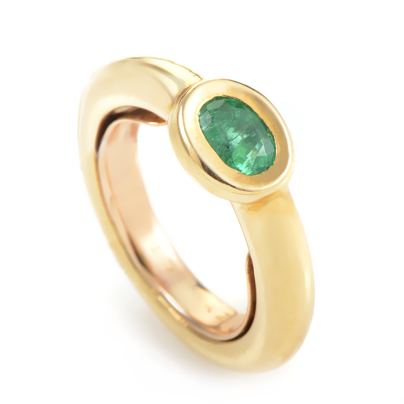 Chaumet 18K Yellow Gold Emerald Ring KH0096038AJEM