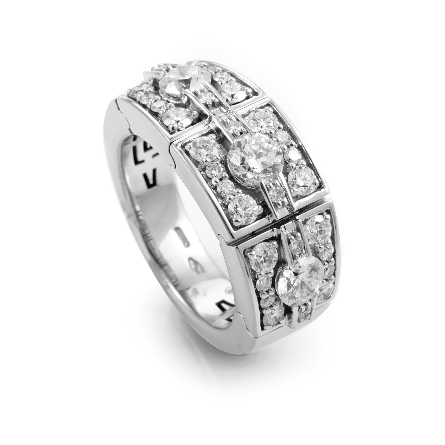 Jacqueline 18K White Gold Diamond Band Ring